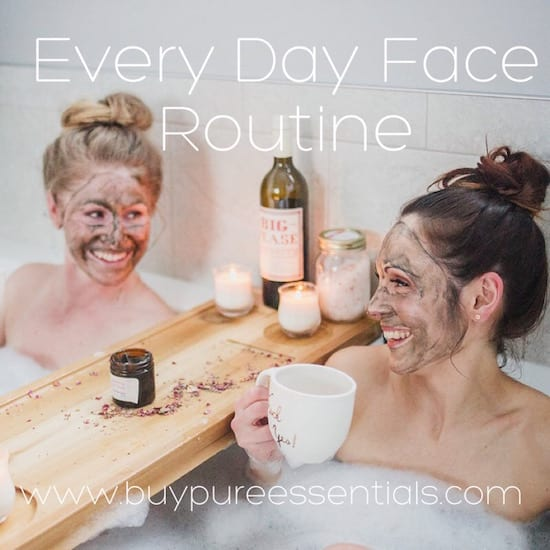 Daily face care ritual
